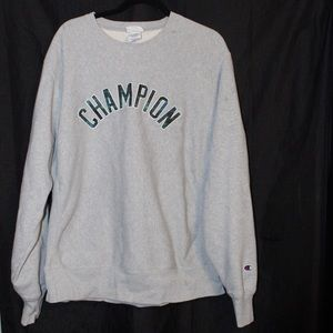 Champion Plaid Logo Crewneck